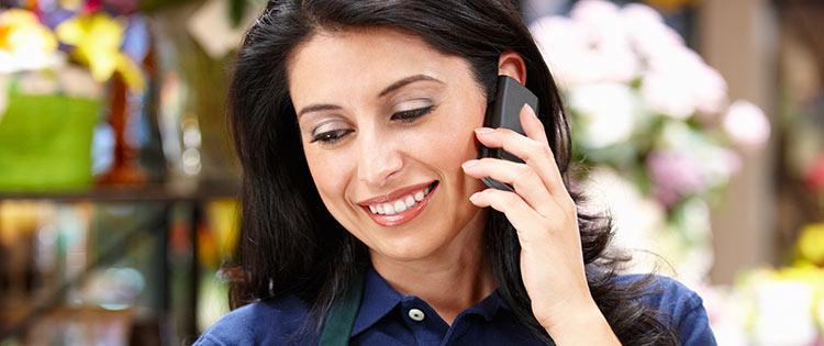 cliente no telefone